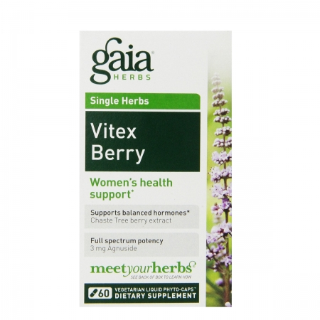 Gaia Herbs Vitex Berry Liquid Phyto-Capsules, 60 Count