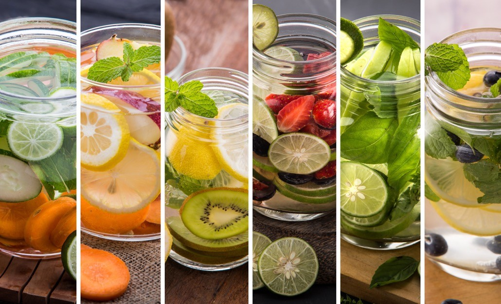 BM_Various refreshing infused water from tropical fruit_96586199